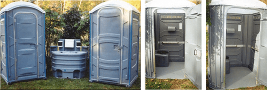 Standard & handicap unit setup with wash area